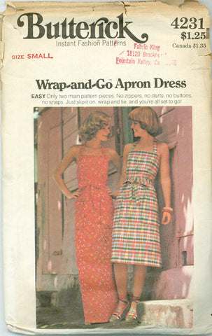Butterick 4231 - Wrap-and-Go Apron Dress - Serendipity Vintage