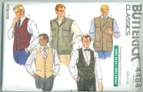 Butterick 4484 - Men's Vests - Serendipity Vintage