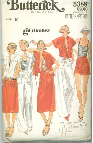 Butterick 5338 - Misses' Jacket, Skirt, Pants, Shorts designed by Gil Aimbez - Serendipity Vintage