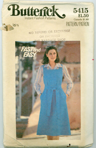 Butterick 5415 - Fast and Easy Jumper - Serendipity Vintage