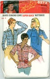 Butterick 6273 - Marie Osmond Super-Quick Collection Yoked Shirt - Serendipity Vintage