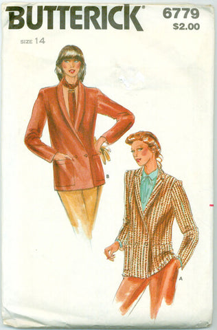 Butterick 6779 - Misses' Jacket with Shawl or Pointed Collar - Serendipity Vintage
