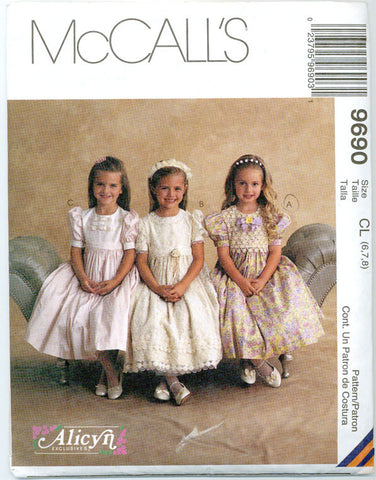 McCalls 9690 - Girls' Full Skirt Party Dresses by Alicyn Exclusives - Serendipity Vintage