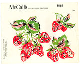 McCall's 1865 - Strawberry and Blossom Motifs Iron-onTransfer - Serendipity Vintage