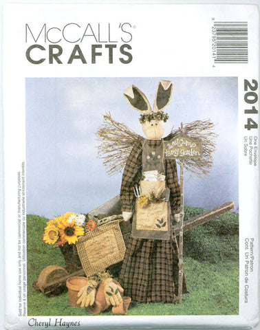 McCall's 2014 - Garden Angel Bunny, Wall Hanging, Garden Gloves - Serendipity Vintage