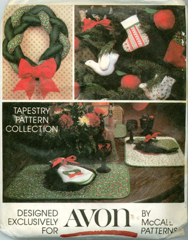 Avon Tapestry Christmas Pattern Collection From McCalls Sewing Patterns