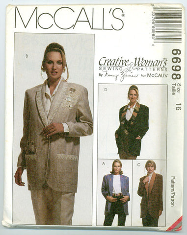 McCall's 6698 - Creative Woman's Collection Jacket designed by Nancy Zieman - Serendipity Vintage