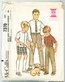 McCall's 7370 - Boys' Shirt, Slacks, and Bermuda Shorts - Serendipity Vintage