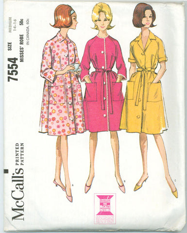 McCall's 7554 - Front Button or Shirtwaist Style Robe - Serendipity Vintage