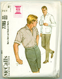 McCall's 7785 - 1960s Men's Shirt and Slacks or Shorts - Serendipity Vintage