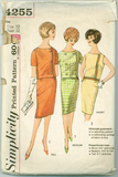Simplicity 4255 - Proportioned Two-Piece Dress in Short, Medium, and Tall - Serendipity Vintage