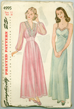Simplicity 4995 - Misses Nightgown and Negligee - Serendipity Vintage
