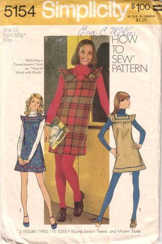 Simplicity 5154 - Mini-Jumper in Two Variations - Serendipity Vintage