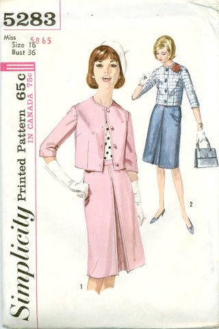 Simplicity 5283 - Misses' Suit with Inverted Pleat Skirt - Serendipity Vintage