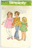Simplicity 5479 - Child's Smock-Dress or Top and Blouse
