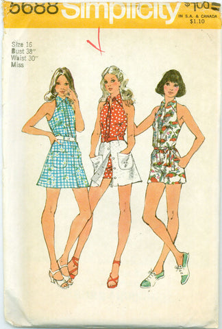 Simplicity 5688 - Halter Jumpsuit and Mini Skirt - Serendipity Vintage