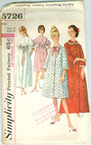 Simplicity 5726 - Misses Robe in Two Lengths - Serendipity Vintage