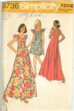 Simplicity 5736 - Misses' Muu-Muu Dress in Mini and Maxi Lengths - Serendipity Vintage