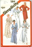 Simplicity 5814 - Misses' Shawl Collar or Hooded Robe in Two Lengths - Serendipity Vintage