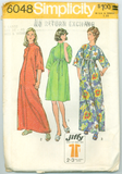 Simplicity 6048 - Misses' Stand Up Collar Robe in Two Lengths - Serendipity Vintage