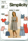 Simplicity 7610 - Girls' Dress, Top, Shorts, and Headband