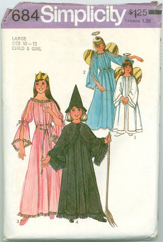 Simplicity 7684 - Angel, Fairy, Witch, and Princess Costumes - Serendipity Vintage