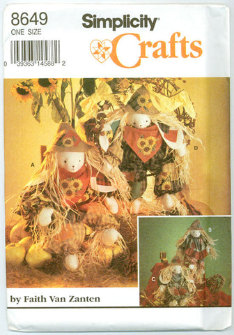 Simplicity 8649 - Scarecrow Bunnies Fall Home Decor and Crafts - Serendipity Vintage