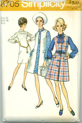 Simplicity 8705 -  Misses' Sleeveless Coat  and Jumper or Dress - Serendipity Vintage