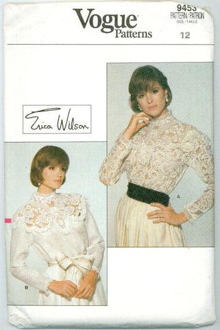Vogue 9455 - Victorian-Style Lace Blouses by Erica Wilson - Serendipity Vintage