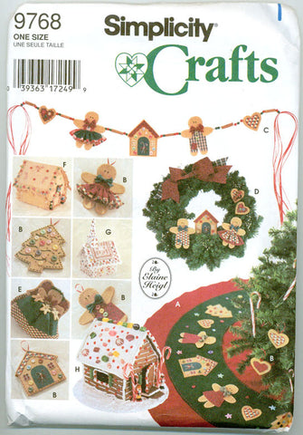 Simplicity 9768 - No Sew Christmas Home Decor - Serendipity Vintage