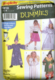 Simplicity 9910 - Wizard, Angel, Scarecrow, Princess, Poodle Skirt Costumes for Boys and Girls - Serendipity Vintage