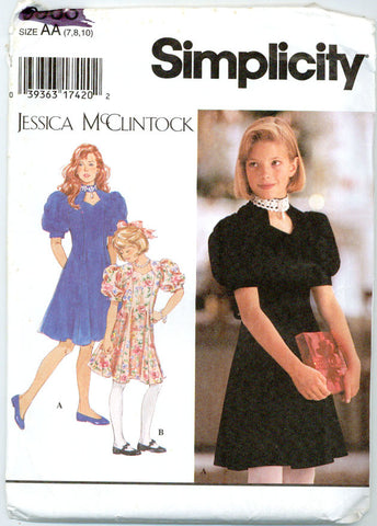 Simplicity 9963 - Jessica McClintock - Girls' Special Occasion Princess Seam Dress - Serendipity Vintage