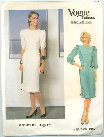 Vogue 1383 - Paris Original - Day Dress by Emanuel Ungaro - Serendipity Vintage