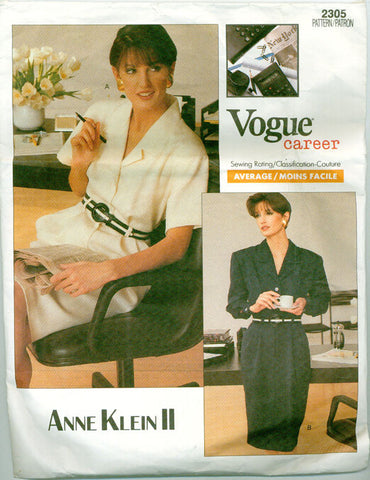 Vogue 2305 - Career Dress by Anne Klein II - Serendipity Vintage