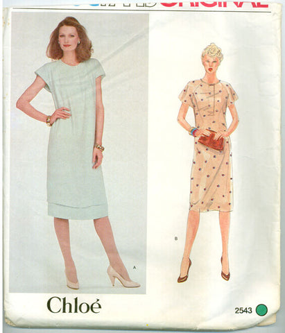 Vogue 2543 - Paris Original - Raglan Sleeve Dress by Chloe - Serendipity Vintage