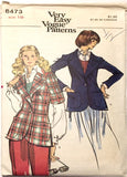 Vogue 8473 - Misses' Unlined Jacket with Notched Collar and Short or Long Sleeves - Serendipity Vintage
