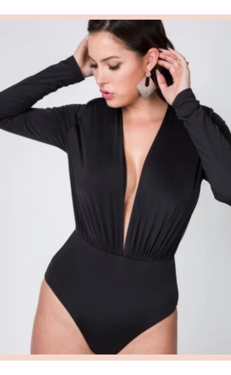 Body Suit Vibe (Black) - Faithfully Fresh Apparel