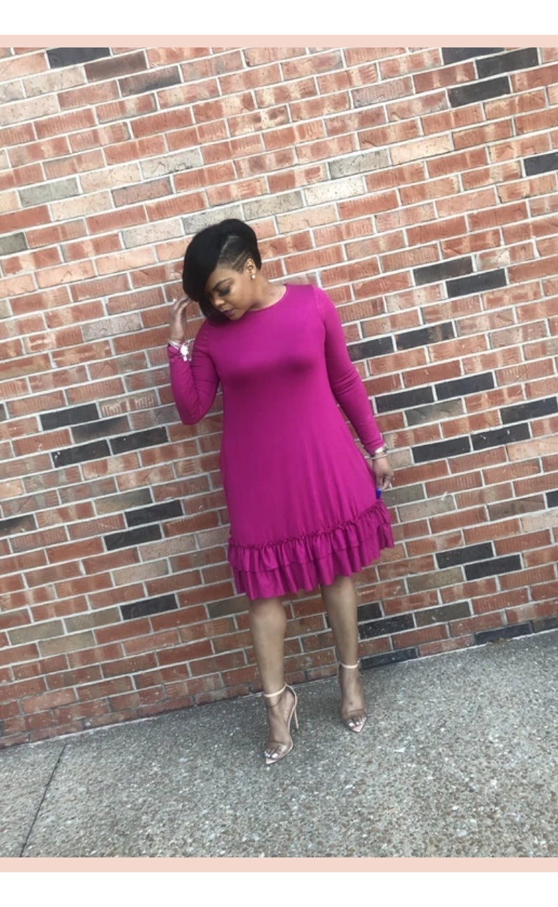 Princess Ruffle Hem Dress - Faithfully Fresh Apparel