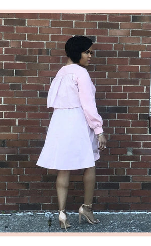 Layered smock dress-pink - Faithfully Fresh Apparel