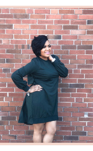 Layered smock dress-green - Faithfully Fresh Apparel