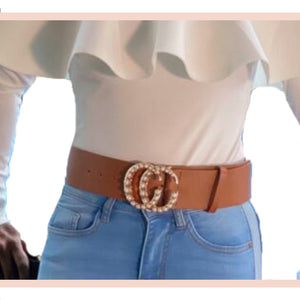 Gold Double Buckle Belt - Faithfully Fresh Apparel