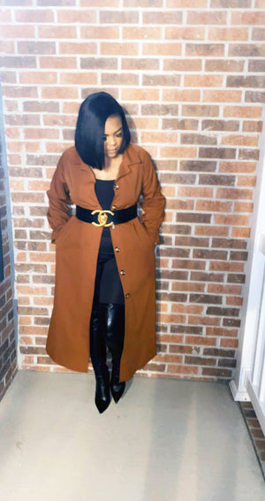 Luxe Terracotta Coat - Faithfully Fresh Apparel