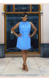 Harmony Sleeveless Blue Dress - Faithfully Fresh Apparel