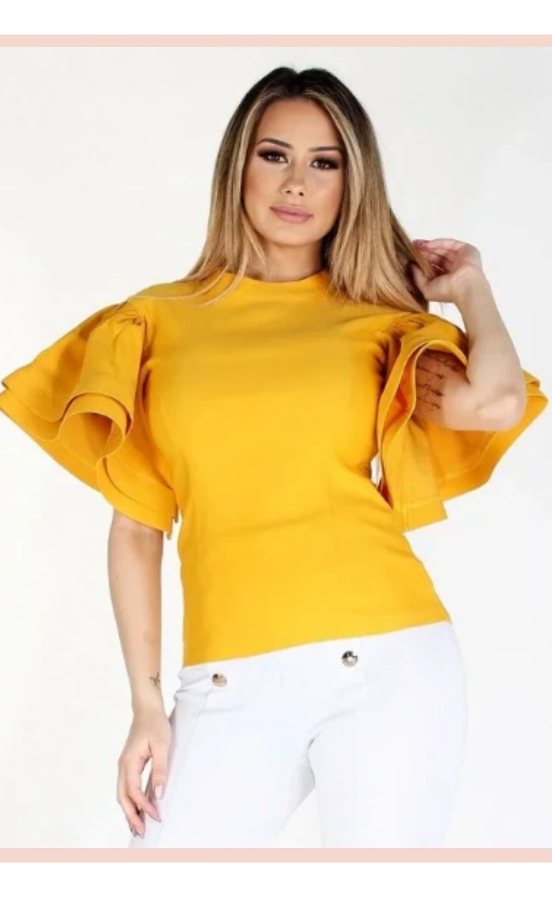 Puff Sleeve Top - Faithfully Fresh Apparel