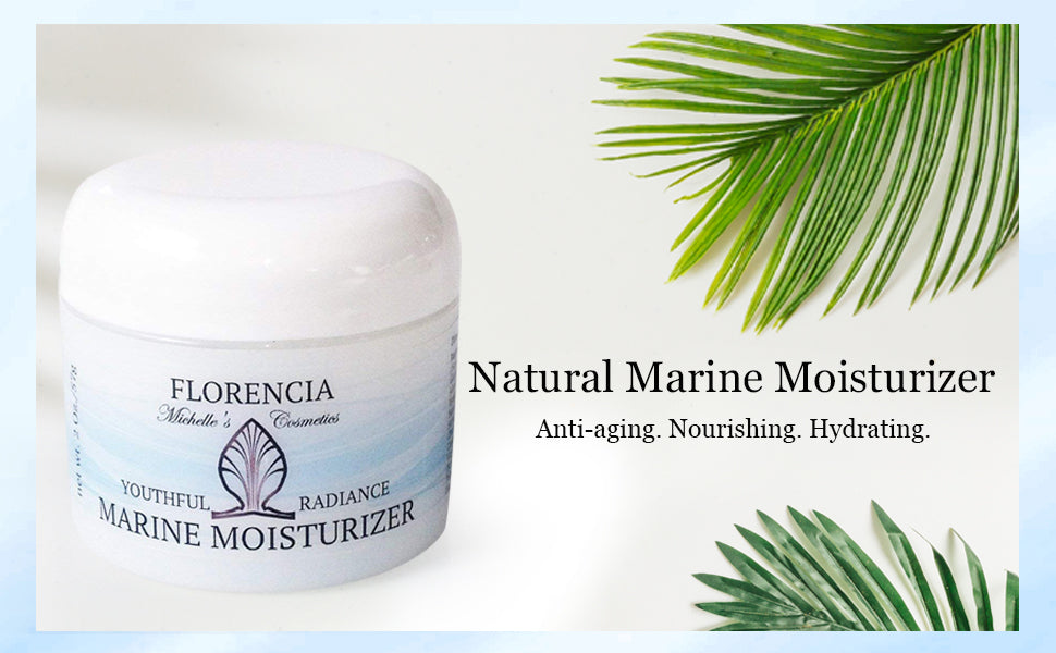 Marine Moisturizer Natural face cream - anti-aging, nourishing, hydrating cream