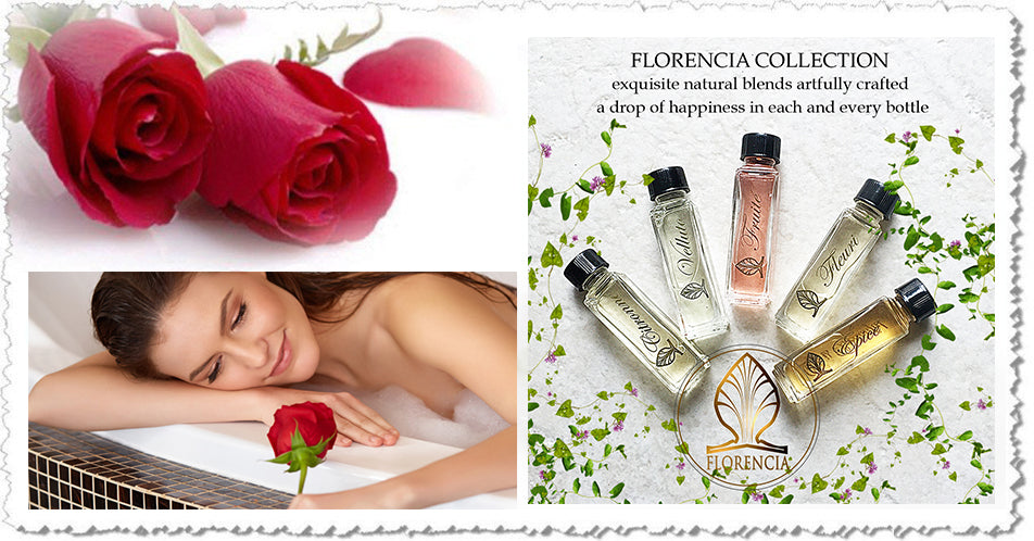 Valentine's Day  - Florencia Collection's signature perfumes are formulated with high-quality, unique, natural fragrance oils, for any taste & spirit, time of the day or year, to complement any emotion and desire.