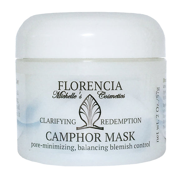 Camphor Mask Clarifying Redemption container with the label.