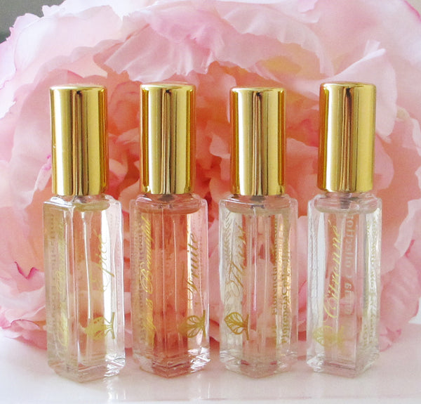 Five bottles of perfume.