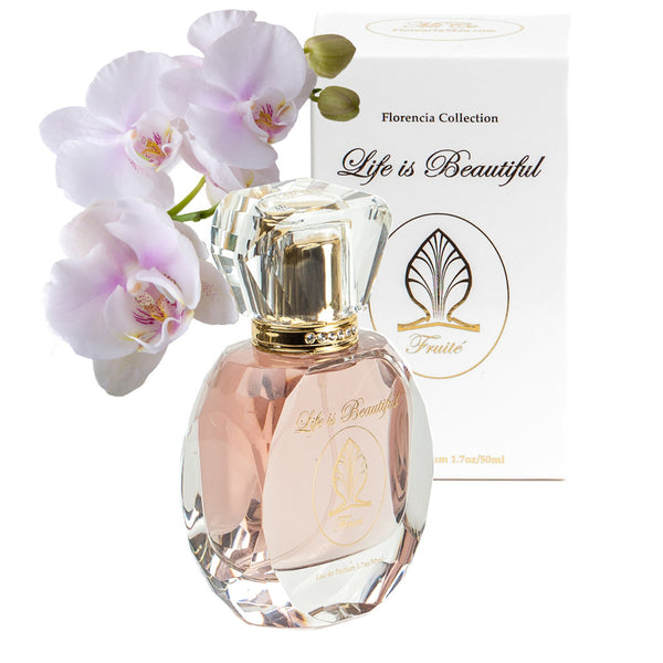 Fruité Perfume for Women by Florencia · Fruity Floral Fragrance · Florencia Colection Life is Beautiful