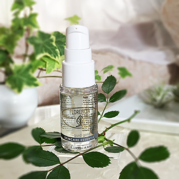 Liquid Gold Nourishing Moisturizing Serum bottle.